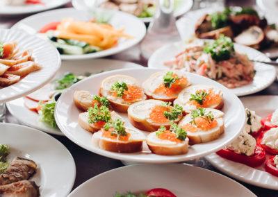 Photo d'un buffet sur mesure Gourman'Dit Réception